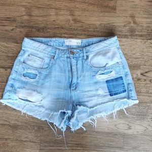 Garage Distressed High-Waisted Cut-Off Shorts 11